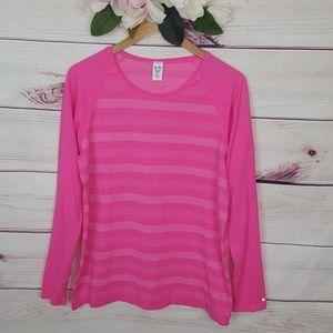 Champion | Duo Dry Striped Pink Shirt XL